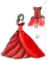 red dress by TaraLouiseBeddow