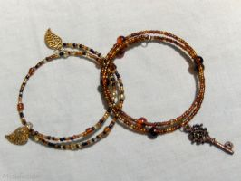 Amber Waves Bracelet Set by mizufusion