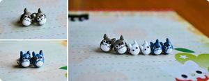 Totoro Earrings by whitemilkcarton