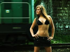 Sylwia and train by willow32