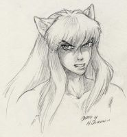 InuYasha Pencil Portrait by M-Skirvin
