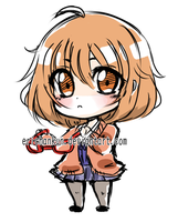 Chibi Sketch Commission example: Mirai by erichankun