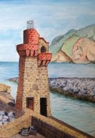 Lynmouth Harbour Beacon by MagicAlly25