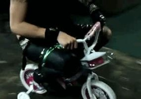 Andy Riding Little Girl Bike by SammieSparxx