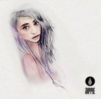 GIRLS ILLUSTRATION-PORTRAIT by DIP-dippie