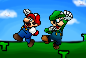 Mario Brothers by supersilver27