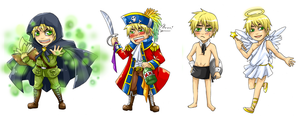 4xEngland Chibi by BlackMayo