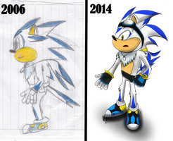 before and after OC sonic by lugiamaria
