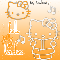 hello kitty brushes by Galleasy