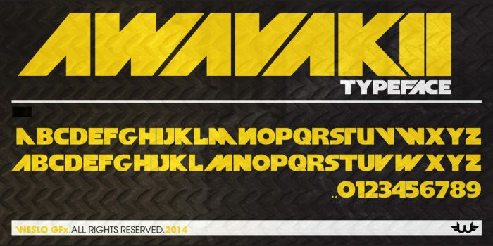 Awavakii Typeface Font by Weslo11