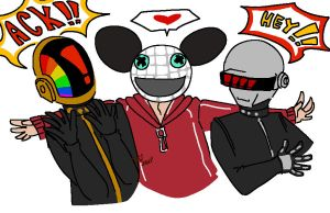 Daft Punk and Deadmau5 by Koipatches