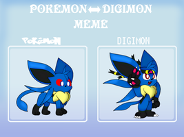 Pokemon Digimon Meme - Auraeon by RiuAuraeon