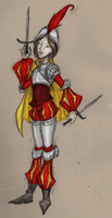 Poofy Sleeves Lady Knight by fainting-goat