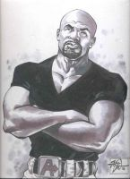 Luke Cage sketch by RougeDK