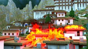 Burning Village (Fire Test) - As A whole by KingFromHatena