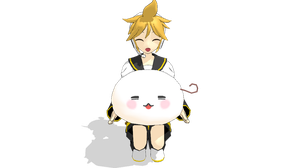 MMD - Len and his MochiBuddy by emmystar