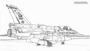 F16D Block 52 Plus on ground by Cefiros