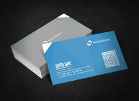 Corporate Business Card with QR Code by glenngoh