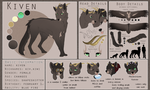 Kiven reference sheet by LuckyPaw