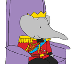 King Babar - Child - Anniversary - Throne by KingLionelLionheart