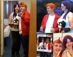 Fry and Leela Cosplay Collage by unipal390