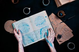 Map-marked stars (Endless Book) by dinabelenko
