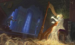 The harpist ghost by ICart-Paint