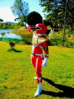 Red Ranger to the rescue!!!!! by AndreaStarchild