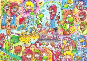 Super Mario Bros 3D Land 2 by PaperLillie