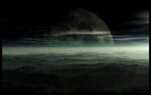 Matte Painting - Foggy Moon by EYADSTUDIO