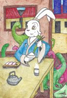 Lunch with Usagi and the Tokage by still-a-fan