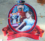 The Nutcracker Chalk Art by charfade