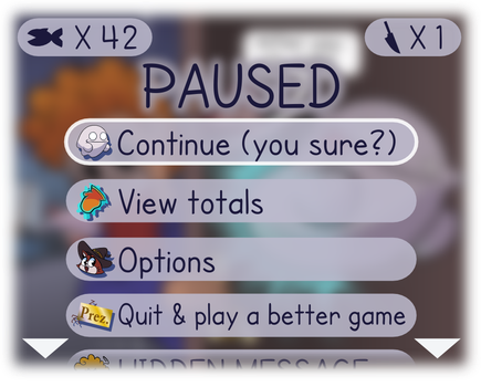 Pause Screen - Ghooost: the Very Real Game by MarkProductions