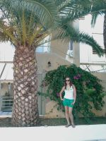 I and the palm tree in Greece by Klaudia333