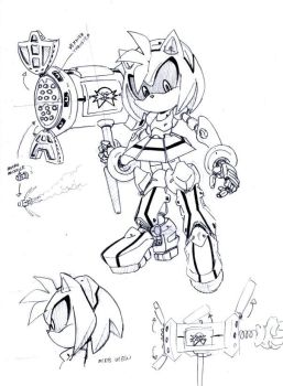 Metal Amy sketches by SMSSkullLeader