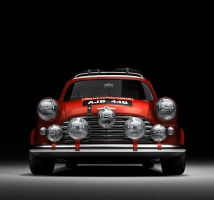 1965 Morris Mini Cooper Rallye by kokillo