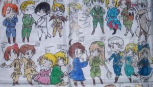 Just About ALL The Hetalia Characters Part 1 by ShinraKishitani23