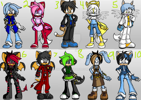 Sonic Adopt Set 3 (OPEN! REDUCED PRICE!) by SK08