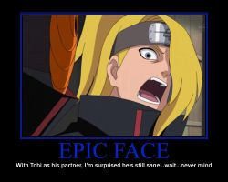 Deidara's Epic Face by Alice-LaCasse