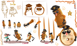 Wreck it Ralph-Wynnchel and Duncan studies/doodles by CapnMeli