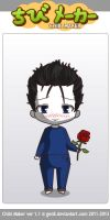 ChibiMaker Microsoft Bob holding a rose by tigerclaw64