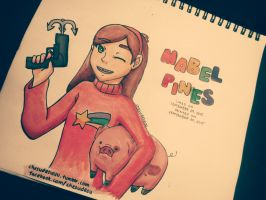 Mabel Pines (with Waddles) by MiuShimazu
