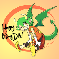 Happy Birthday DA by Zerochan923600