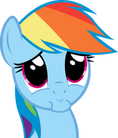 Rainbow Dash PLEEEEEEASE??? Face by Spyro4287
