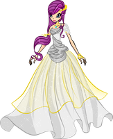 Winx: Altair Wedding dress by DragonShinyFlame
