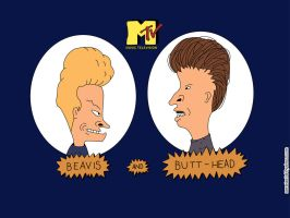 Wall Beavis and Butthead Mtv by mc06x