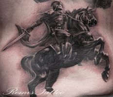 warrior tattoo by Remistattoo