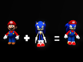 If Mario And Sonic Had A Baby by ItchyBarracuda