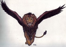 Winged Lion by Spiritwings