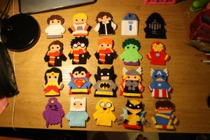 Fandom Finger Puppets by Elizardc